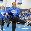 Leominster High School held it's football pep rally on Tuesday morning at the school. They will be playing Fitchburg on Thanksgiving day. The moms of the senior football players performed during the pep rally. Senior Football player Michael Burson 's mom Krista Burson was one of the performers. SENTINEL & ENTERPRISE/JOHN LOVE