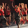 SENTINEL & ENTERPRISE / BYRON SMITH<br /> The Fitchburg Red Raider riles the crowd up during the Fitchburg High School pep rally held at Fitchburg High School in Fitchburg on Tuesday, November 25, 2009.