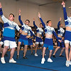 SENTINEL & ENTERPRISE / SARAH BRITAIN  A special cheerleading squad performs at the Leominster High School pep rally, Tuesday.