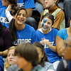SENTINEL & ENTERPRISE / BRETT CRAWFORD<br /> Seniors, from left, Jolinda Diaz, Chani Akiba, Nadya Dicienzo, and Cindy Quinones cheer during Leominster High School's pep rally, Tuesday.