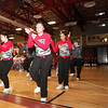 SENTINEL & ENTERPRISE / CONNOR GLEASON<br /> The  Fitchburg High School step team performs during the pep rally at FHS Tuesday evening. FHS will face off against Leominster High School during the annual Turkey Bowl at Doyle Field in Leominster Thanksgiving morning.