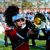 SENTINEL & ENTERPRISE / BRETT CRAWFORD<br /> Fitchburg senior Christian Hernandez performs with the band during half-time of Thursday's annual Thanksgiving Day rivalry football game at Doyle Field. Leominster won 38-22.