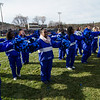 Leominster High cheerleaders during the Thanksgiving Day game on Thursday. SENTINEL & ENTERPRISE / Ashley Green