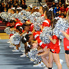 Fitchburg High School cheerleaders perform during the school's pep rally, Wednesday morning.<br /> SENTINEL & ENTERPRISE / BRETT CRAWFORD