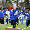 SENTINEL & ENTERPRISE / BRETT CRAWFORD<br /> The Leominster High School band performs during half time of the Thanksgiving Day game of Fitchburg High School against Leominster High School, Thursday at Doyle Field.