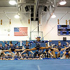 SENTINEL & ENTERPRISE / BRETT CRAWFORD<br /> The varsity cheerleaders perform during Leominster High School's pep rally, Tuesday.