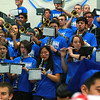Leominster High School held it's football pep rally on Tuesday morning at the school. They will be playing Fitchburg on Thanksgiving day. Members of the high school band played at the pep rally. SENTINEL & ENTERPRISE/JOHN LOVE