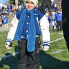 Leominster's littlest fan, Ciro Donatelli, 4, sports a replica varsity jacket prior to the Thanksgiving matchup between Leominster and Fitchburg on Saturday afternoon at Doyle Field. SENTINEL & ENTERPRISE / Ashley Green