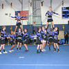 Leominster High School male students, dressed as female cheerleaders, perform during the school's pep rally, Tuesday.<br /> (photo courtesy of Creative by O'Connor Studios)