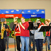 The Fitchburg High School band performs during the school's pep rally, Wednesday morning.<br /> SENTINEL & ENTERPRISE / BRETT CRAWFORD