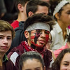 Fitchburg High sophomore Yoen Pedrazza goes all out for the Thanksgiving pep rally on Wednesday morning. SENTINEL & ENTERPRISE / Ashley Green