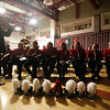 SENTINEL & ENTERPRISE / CONNOR GLEASON<br /> The Fitchburg High School's marching band during FHS's pep rally at FHS Tuesday evening. FHS will face off against Leominster High School during the annual Turkey Bowl at Doyle Field in Leominster Thanksgiving morning.