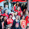 Fitchburg High School fans cheer during Thursday's Thanksgiving Day rivalry game against Leominster at Crocker Field.<br /> SENTINEL & ENTERPRISE / BRETT CRAWFORD