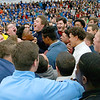 Leominster High School held it's football pep rally on Tuesday morning at the school. They will be playing Fitchburg on Thanksgiving day. The football players got excited during the pep rally. SENTINEL & ENTERPRISE/JOHN LOVE