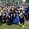 Leominster High fans pile up during the Thanksgiving Day game on Thursday. SENTINEL & ENTERPRISE / Ashley Green