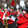 SENTINEL & ENTERPRISE / CONNOR GLEASON<br /> The Fitchburg High School marching band plays during halftime at the annual Turkey Bowl football game against Leominster High School Thanksgiving Day morning at Crocker Field in Fitchburg. Leominster defeated Fitchburg, 21-14.