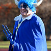 SENTINEL & ENTERPRISE / CONNOR GLEASON<br /> Leominster High School class of 2003 graduate Brandon Ripley shows his support for the Blue Devils during the annual Turkey Bowl football game Thanksgiving Day morning at Crocker Field in Fitchburg. Leominster defeated Fitchburg, 21-14.