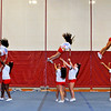 SENTINEL & ENTERPRISE / BRETT CRAWFORD<br /> Fitchburg High School cheerleaders perform during the school's pep rally, Tuesday, in preparation for Thursday's Thanksgiving Day rivalry game against Leominster High School.