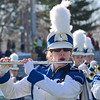 Taylor Brown performs with the Blue Devil Marching Band during the Thanksgiving matchup on Saturday afternoon at Doyle Field. SENTINEL & ENTERPRISE / Ashley Green
