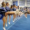 SENTINEL & ENTERPRISE / BRETT CRAWFORD<br /> Cheerleaders perform a cheer during Leominster High School's pep rally, Tuesday.