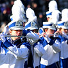 SENTINEL & ENTERPRISE / CONNOR GLEASON<br /> The Leominster High School marching band plays during halftime at the annual Turkey Bowl football game against Fitchburg High School Thanksgiving Day morning at Crocker Field in Fitchburg. Leominster defeated Fitchburg, 21-14.
