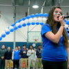 Leominster High School held it's football pep rally on Tuesday morning at the school. They will be playing Fitchburg on Thanksgiving day. Senior Amanda Lanza sang the National Anthem to start the pep rally. SENTINEL & ENTERPRISE/JOHN LOVE