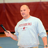Fitchburg High School varsity football Head Coach Dan Walker introduces the senior football players during the school's pep rally, Wednesday morning.<br /> SENTINEL & ENTERPRISE / BRETT CRAWFORD