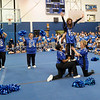SENTINEL & ENTERPRISE / BRETT CRAWFORD<br /> The mothers of the senior varsity football players perform a cheer during Leominster High School's pep rally, Tuesday.
