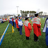 SENTINEL & ENTERPRISE / BRETT CRAWFORD<br /> The Leominster High School and Fitchburg High School bands perform before the start of the Thanksgiving Day game of Fitchburg High School against Leominster High School, Thursday at Doyle Field.
