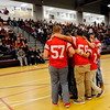 Fitchburg High School senior players huddle during the school's pep rally, Wednesday morning.<br /> SENTINEL & ENTERPRISE / BRETT CRAWFORD