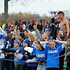 SENTINEL & ENTERPRISE / BRETT CRAWFORD<br /> Leominster High School fans celebrate during Thursday's Thanksgiving Day game of Fitchburg High School against Leominster High School at Doyle Field.