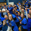 Leominster High School held it's football pep rally on Tuesday morning at the school. They will be playing Fitchburg on Thanksgiving day. Students in the senior class got a little excited during the pep rally. SENTINEL & ENTERPRISE/JOHN LOVE