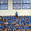 SENTINEL & ENTERPRISE / BRETT CRAWFORD<br /> The senior class looks on while the senior football players are recognized during Leominster High School's pep rally, Tuesday.