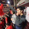 SENTINEL & ENTERPRISE / BYRON SMITH<br /> Fitchburg High School freshman Kadysha Villot, 15, shows her school spirit during the Fitchburg High School pep rally held at Fitchburg High School in Fitchburg on Tuesday, November 25, 2009.