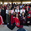 Fitchburg fans cheer on the football team during the Thanksgiving Day game on Thursday. SENTINEL & ENTERPRISE / Ashley Green