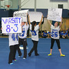 Leominster High School students hold up signs as they perform a skit during the school's pep rally, Tuesday.<br /> (photo courtesy of Creative by O'Connor Studios)