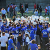 SENTINEL & ENTERPRISE / BRETT CRAWFORD<br /> Leominster celebrates their 38-22 victory over Fitchburg at the conclusion of Thursday's annual Thanksgiving Day rivalry football game at Doyle Field.