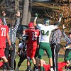 SENTINEL & ENTERPRISE / JOHN LOVE<br /> Nashoba players and ref's signal a touchdown during action in Thursday's game against NMRHS.