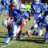 Leominster's Eddie Rivera carries the ball during Thursday's Thanksgiving Day rivalry game against Fitchburg.<br /> SENTINEL & ENTERPRISE / BRETT CRAWFORD