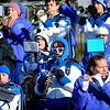 The Leominster High School band performs during Thursday's Thanksgiving Day rivalry game against Fitchburg at Crocker Field.<br /> SENTINEL & ENTERPRISE / BRETT CRAWFORD