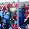 The Fitchburg High School band performs in the stands at Crocker Field during Thursday's Thanksgiving Day rivalry game against Leominster at Crocker Field.<br /> SENTINEL & ENTERPRISE / BRETT CRAWFORD