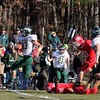 SENTINEL & ENTERPRISE / JOHN LOVE<br /> Nashoba's Frankie Chiodo takes off leaving NMRHS players behind during action in the Thanksgiving Day game on Thursday morning.