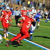 SENTINEL & ENTERPRISE / BRETT CRAWFORD<br /> Fitchburg's Dimitri Brasili runs for a touchdown during Thursday's annual Thanksgiving Day rivalry football game against Leominster at Doyle Field. Leominster won 38-22.