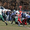 SENTINEL & ENTERPRISE / JOHN LOVE<br /> Nashoba's Andrew Cross finds some running room during action in the Thanksgiving Day game in Townsend on Thursday.