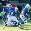SENTINEL & ENTERPRISE / BRETT CRAWFORD<br /> Leominster quarterback Garrett DelleChiaie throws a pass during Thursday's annual Thanksgiving Day rivalry football game against Fitchburg at Doyle Field. Leominster won 38-22.