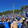 SENTINEL & ENTERPRISE / BRETT CRAWFORD<br /> Leominster High School students cheer during Thursday's annual Thanksgiving Day rivalry football game against Fitchburg at Doyle Field. Leominster won 38-22.