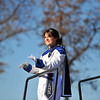 SENTINEL & ENTERPRISE / BRETT CRAWFORD<br /> Leominster senior Megan Leger leads the marching band during half-time of Thursday's annual Thanksgiving Day rivalry football game against Fitchburg at Doyle Field. Leominster won 38-22.