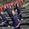 SENTINEL & ENTERPRISE / JOHN LOVE<br /> NMRHS Cheerleader Jenni Sheridan, in the front, along with her teammates cheer for their team during action Thursday game in Townsend.