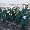 The Oakmont High Marching Band lines up before the Thanksgiving game against Gardner High on Thursday morning. SENTINEL & ENTERPRISE / Ashley Green