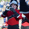 Anthony Detmer performs with the Red Raider Marching Band during the Thanksgiving matchup on Saturday afternoon at Doyle Field. SENTINEL & ENTERPRISE / Ashley Green